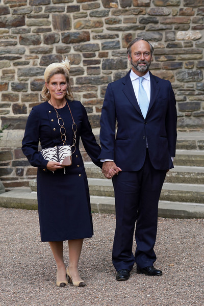 Baptism Of Prince Charles Of Luxembourg At L'Abbaye St Maurice De Clervaux [suit,event,white-collar worker,formal wear,photography,tourism,award,prince charles of luxembourg,christian de lannoy,countess luisa de lannoy,baptism,count,baptism,suit,labbaye st maurice de clervaux,luxembourg,event,outerwear,socialite,tuxedo m.,citizenm]