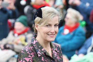 Countess of Wessex Members of the Royal Family Attend St Mary Magdalene Church in Sandringham