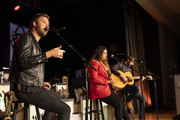 (L-R) Charles Kelley, Hillary Scott and Dave Haywood of Lady Antebellum perform at The Peabody on January 17, 2020 in Memphis, Tennessee.
