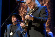 Garth Brooks (L) and Ricky Skaggs perform onstage during the 2018 Country Music Hall of Fame and Museum Medallion Ceremony honoring inductees Johnny Gimble, Ricky Skaggs and Dottie West at Country Music Hall of Fame and Museum on October 21, 2018 in Nashville, Tennessee.