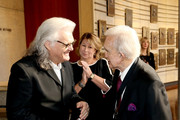 (L-R) Ricky Skaggs, CMA CEO Sarah Trahern and Ralph Emery attend the 2018 Country Music Hall of Fame and Museum Medallion Ceremony honoring inductees Johnny Gimble, Ricky Skaggs and Dottie West at Country Music Hall of Fame and Museum on October 21, 2018 in Nashville, Tennessee.