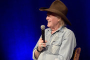 Singer-songwriter Billy Joe Shaver speaks in an interview during the Billy Joe Shaver Songwriter Session at the Country Music Hall of Fame and Museum during the Americana Music Festival & Conference on September 20, 2014 in Nashville, Tennessee.