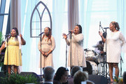 Deborah,Ann,Regina and Alfreda McCrary perform during Easter Brunch With The McCrary Sisters at Country Music Hall of Fame and Museum on March 27, 2016 in Nashville, Tennessee.