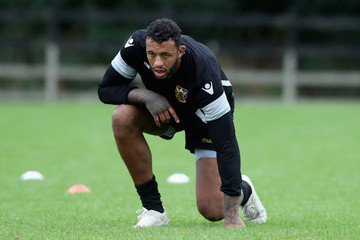 Courtney Lawes Northampton Saints Training Session