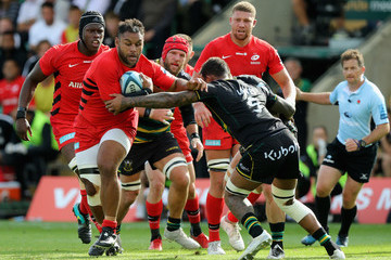 Courtney Lawes Northampton Saints vs. Saracens - Gallagher Premiership Rugby