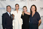 CEO and Founder, DuJour Jason Binn, Mandy Moore, Kim Peiffer and Fryda Lidor attend the DuJour Fall issue cover party with Mandy Moore at TAO Downtown on September 24, 2018 in New York City.