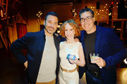 (L-R) Jimmy Kimmel, Kathy Griffin and Adam Carolla attend 'Crank Yankers' 2019 Premiere Party at Two Bit Circus on September 24, 2019 in Los Angeles, California.