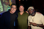 "Adam Carolla, Jeff Ross and Lil Rel Howery attend the ""Crank Yankers"" 2019 Premiere Party at Two Bit Circus on September 24, 2019 in Los Angeles, California."