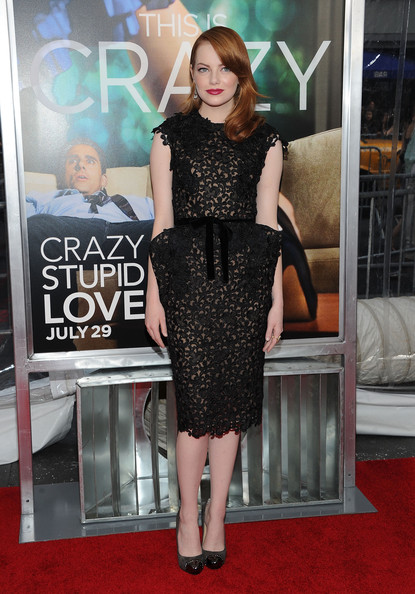 "Actress Emma Stone attends the ""Crazy, Stupid, Love."" World Premiere at the Ziegfeld Theater on July 19, 2011 in New York City."