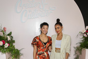 Editor-in-Chief of Allure Magazine Michelle Lee (L) and Actress & Entrepreneur Shay Mitchell (R) at the Cultivate Conference At The House Of Vans In Chicago On August 25, 2018. Partners included Microsoft Teams, JCPenney, McDonald's and Comcast NBCUniversal.