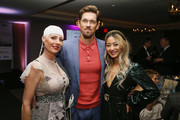 Optune Patient Ambassador Jennifer Riston, Actor Steve Howey and Influencer Anchyi Wei at the Creative Coalition's 2019 #RightToBearArts Gala Presented By Optune on May 09, 2019 in Washington, D.C.