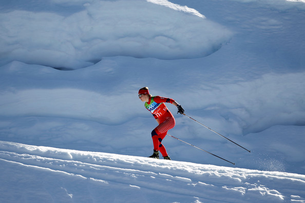 Astrid Uhrenholdt Jacobsen of Norway competes during the cross country