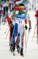 Pietro Piller Cottrer of Italy competes during the Men's 50 km Mass Start Classic cross-country skiing on day 17 of the 2010 Vancouver Winter Olympics at Whistler Olympic Park Cross-Country Stadium on February 28, 2010 in Whistler, Canada.