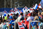 Roland Clara of Italy, Martin Johnsrud Sundby of Norway, Daniel Richardsson of Sweden, Matti Heikkinen of Finland, Robin Duvillard of France, Alex Harvey of Canada and Thomas Bing of Germany compete in the Men's 50 km Mass Start Free during day 16 of the Sochi 2014 Winter Olympics at Laura Cross-country Ski & Biathlon Center on February 23, 2014 in Sochi, Russia.