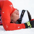 Swiss skier Dario Cologna collapsed in joy after winning the Men's 30k Skiathlon.