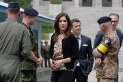 THR Prince Frederik of Denmark and Crown Princess Mary of Denmark visit at the border village of panmunjom between South and North Korea in the demilitarized zone (DMZ) on May 13, 2012, South Korea. The Crown Prince and Crown Princess of Denmark are on a six-day visit to South Korea.