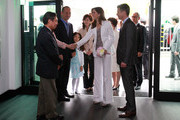 THR Prince Frederik of Denmark and Crown Princess Mary of Denmark visit at the Finn Juhl Exhibition at Daelim Museum on May 11, 2012 in Seoul, South Korea. The Crown Prince and Crown Princess of Denmark are on a six-day visit to South Korea.