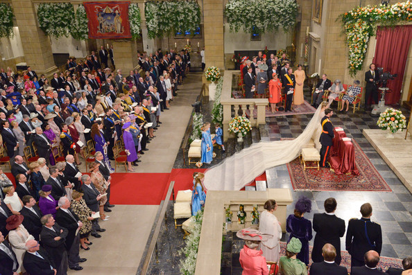 The Wedding Of Prince Guillaume Of Luxembourg & Stephanie de Lannoy - Official Ceremony [event,ceremony,community,tradition,crowd,marriage,tourism,guillaume of luxembourg stephanie de lannoy - official ceremony,stephanie,prince,belgian countess,sales,archive,handout image,luxembourg,wedding,wedding ceremony]