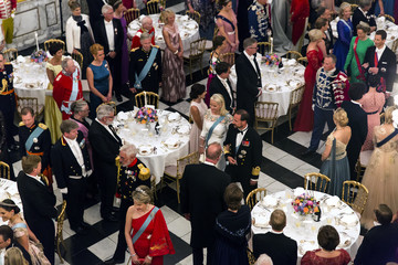 Crown Prince Haakon Of Norway Crown Prince Frederik Of Denmark Holds Gala Banquet At Christiansborg Palace