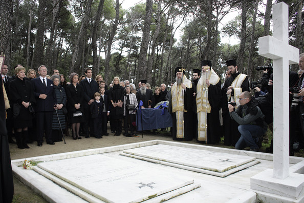Commemorative Mass Held for King Paul I [event,funeral,ceremony,memorial,pall-bearer,greece,spanish,paul i,constantine ii,sofia,royal families attend commemorative mass,queen anne marie of greece,princess,crown prince,crown princess]