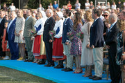(from third left) Prince Daniel of Sweden, Crown Princess Victoria of Sweden, King Carl Gustaf of Sweden, Queen Silvia of Sweden, Prince Carl Philip of Sweden, Princess Sofia of Sweden, Princess Madeleine of Sweden and her husband Chris O'Neill during the occasion of The Crown Princess Victoria of Sweden's 41st birthday celebrations at Borgholm Sports Arena on July 14, 2018 in Oland, Sweden.