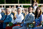 King Carl Gustaf of Sweden, Queen Silvia of Sweden, Prince Carl Philip of Sweden and Princess Sofia of Sweden are seen on the occasion of The Crown Princess Victoria of Sweden's 42nd birthday celebrations on July 14, 2019 in Oland, Sweden.
