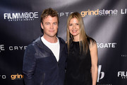 """Luke Hemsworth and Jill Hennessy attend the """"Crypto"""" New York Screening at AMC Empire 25 on April 12, 2019 in New York City."""