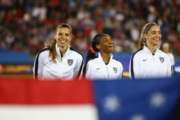 Crystal Dunn Tobin Heath United States v Costa Rica: Group A - 2016 CONCACAF Women's Olympic Qualifying