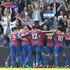 Joel Ward Wilfried Zaha Photos - Wilfried Zaha of Crystal Palace celebrates with teammates after scoring his sides first goal during the Premier League match between Crystal Palace and Brighton and Hove Albion at Selhurst Park on April 14, 2018 in London, England. - Crystal Palace vs. Brighton And Hove Albion - Premier League
