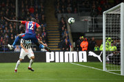 Mamadou Sakho of Crystal Palace misses an open goal with a header during the Premier League match between Crystal Palace and Newcastle United at Selhurst Park on September 22, 2018 in London, United Kingdom.