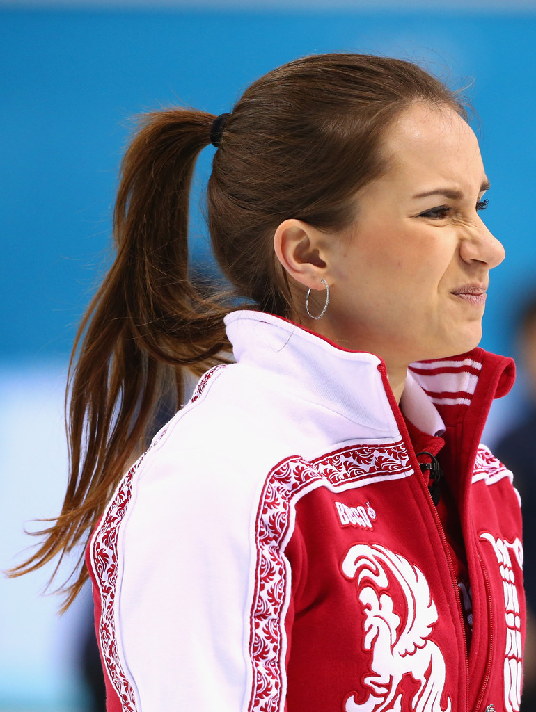 Anna Sidorova in Curling - Winter Olympics Day 10 - Zimbio
