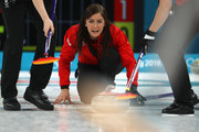Eve Muirhead of Great Britain competes during the Women's Round Robin Session 10 on day eleven of the PyeongChang 2018 Winter Olympic Games at Gangneung Curling Centre on February 20, 2018 in Gangneung, South Korea.