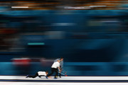 Cameron Smith, Kyle Waddell, Thomas Muirhead and Kyle Smith of Great Britain compete in the Curling Men's Tie-breaker against Switzerland on day thirteen of the PyeongChang 2018 Winter Olympic Games at Gangneung Curling Centre on February 22, 2018 in Gangneung, South Korea.