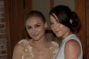 Actress Samaire Armstrong and Kendra Krulls attend Current Elliot, Confederacy and Vogue Present Fashion's Night Out at Confederacy on September 10, 2010 in Los Angeles, California.