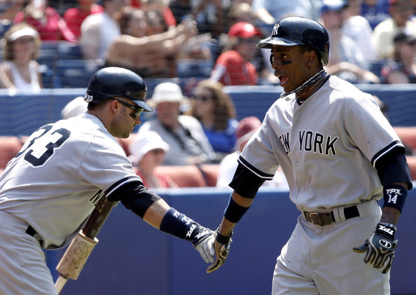 Swisher and Granderson - New York Yankees v Toronto Blue Jays