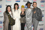 (L-R) Margaret Cho, Kesha, Cyndi Lauper, Billy Porter and Justin Tranter arrive at the Cyndi Lauper And Friends: Home For The Holidays Benefit at The Novo by Microsoft on December 10, 2019 in Los Angeles, California.