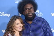 (L-R) Tina Fey and Ahmir Questlove Thompson attend Go Behind The Scenes with Walt Disney Studios during D23 Expo 2019 at Anaheim Convention Center on August 24, 2019 in Anaheim, California.