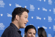 (L-R) Chris Pratt and Julia Louis-Dreyfus attend Go Behind The Scenes with Walt Disney Studios during D23 Expo 2019 at Anaheim Convention Center on August 24, 2019 in Anaheim, California.