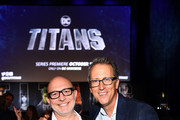 Titan's Executive Producers Akiva Goldsman (L) and Greg Walker (R) attend DC UNIVERSE's Titans World Premiere on October 3, 2018 in New York City.