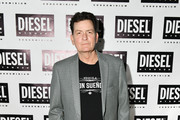 Charlie Sheen attends as DIESEL celebrates the exclusive launch of DIESEL Wynwood 28, their first residential building, with a DJ set by Amrit at Barter on December 04, 2019 in Miami, Florida.