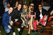 (L-R) Luca Lorenzini, Luca Pannese, Brandi Cyrus, Paris Hilton, and Purple attend as DIESEL celebrates the exclusive launch of DIESEL Wynwood 28, their first residential building, with a DJ set by Amrit at Barter on December 04, 2019 in Miami, Florida.
