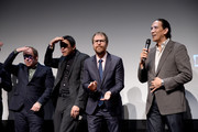 "Bill Camp, Chaske Spencer, Sam Rockwell and Michael Greyeyes speak during an DIRECTTV Premiere Of ""Women Walks Ahead"" At 2018 Tribeca Film Festival on April 25, 2018 in New York City."