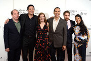 "Bill Camp, Chaske Spencer, Erika Olde, Susanna White, Michael Greyeyes and Rulan Tangen attend the DIRECTTV Premiere Of ""Women Walks Ahead"" At 2018 Tribeca Film Festival on April 25, 2018 in New York City."