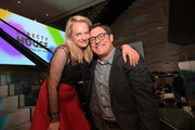 Elisabeth Moss (L) and Rich Sommer attend A Crooked Somebody Lunch at DIRECTV House presented by AT&T during Toronto International Film Festival 2018 at Momofuku Toronto on on September 9, 2018 in Toronto, Canada.