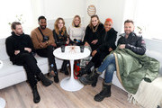 Carrie Keagan (C) interviews (L-R) Sam Levinson, Colman Domingo, Odessa Young, Suki Waterhouse, Anika Noni Rose, and Joel McHale at the DIRECTV Lodge presented by AT&T during Sundance Film Festival 2018 on January 21, 2018 in Park City, Utah.