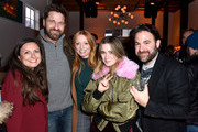 """(L-R) Danielle Robinson, Gerard Butler, Britt Poulton, Alice Englert, and Bradley Gallo at the """"Them That Follow"""" party at DIRECTV Lodge presented by AT&T at Sundance Film Festival 2019 on January 27, 2019 in Park City, Utah."""