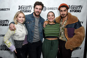 """(L-R)  Kelli Bergland, Beau Mirchoff , Cleopatra Coleman, and Avan Jogia at the """"The Wolf Hour"""" party at DIRECTV Lodge presented by AT&T at Sundance Film Festival 2019 on January 26, 2019 in Park City, Utah."""