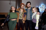 """(L-R) Cleopatra Coleman, Avan Jogia , Beau Mirchoff and Kelli Bergland at the """"The Wolf Hour"""" party at DIRECTV Lodge presented by AT&T at Sundance Film Festival 2019 on January 26, 2019 in Park City, Utah."""