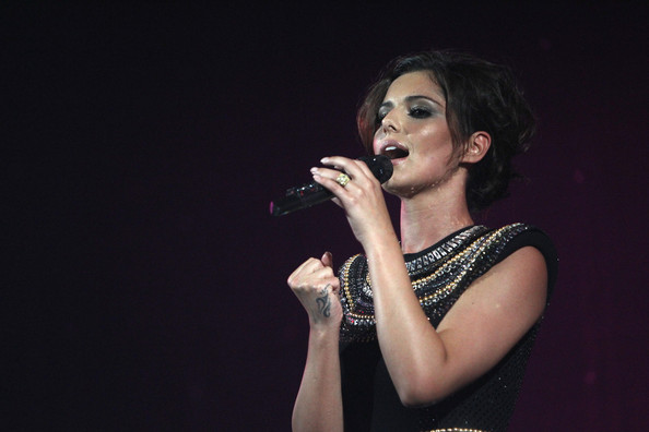 British singer Cheryl Cole performs on stage during the DLD Starnight at Haus der Kunst on January 25, 2010 in Munich, Germany.