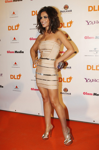 Singer Cheryl Cole arrives for the DLD Starnight at Haus der Kunst on January 25, 2010 in Munich, Germany.